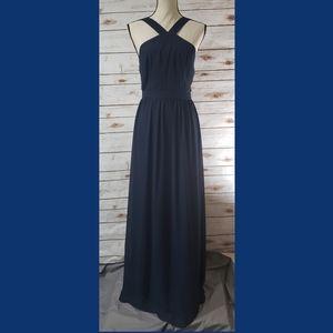 LEVKOFF Navy Blue Ciffon Gown - Size 10